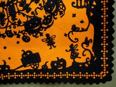 Detail of the Halloween Fairie Circle quilt from the 2012 Tokyo International Great Quilt Festival