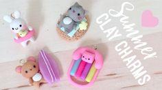 DIY Polymer Clay Summer Charms