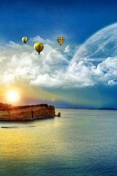 I love hot air balloons. Best Nature Wallpapers, Nature Iphone Wallpaper, Iphone Wallpapers, Air Ballon, Hot Air Balloon, Balloon Rides, Sunset Photos, Nature Images, Great Photos