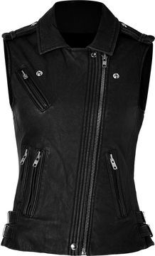 Iro Leather Vest in Black on shopstyle.co.uk