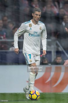 Cristiano Ronaldo of Real Madrid in action during the La Liga 2017-18 match between Atletico de Madrid and Real Madrid at Wanda Metropolitano on November 18 2017 in Madrid, Spain. #realmadrid