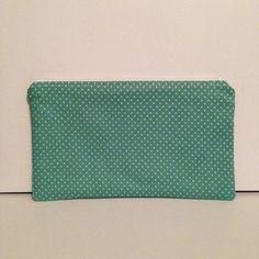 Turquoise Polka Dot Makeup Bag