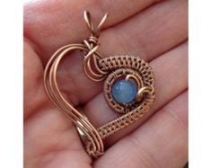 Shop for wire jewelry tutorials on Etsy, the place to express your creativity through the buying and selling of handmade and vintage goods. Wire Jewelry Designs, Diy Jewelry Tutorials, Jewelry Crafts, Heart Jewelry, Beaded Jewelry, Handmade Jewelry, Jewellery, Earrings Handmade, Wire Wrapped Pendant