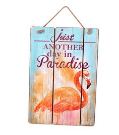 Escape To Paradise Wall Decor-Another Day In Paradise Flamingo | Summer Home Decor | Summer Inspiration