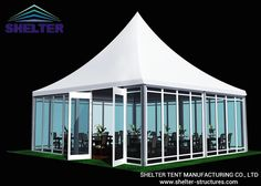Pagoda Tent |  Catering Tent | Banquet Tent | 10x10m with waterproof PVC roof and glass window wall
