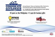 Want to see our actual customized/personalized corporate giveaways promotional items and souvenirs? Check us out as we showcase our different products at the annual Corporate Giveaways Buyers' Show on June 13 to 15 2017 at Hall 4 SMX Convention Center Manila.  #calprintworks #corporategiveaways2017 #corporategiveawaysphilippines