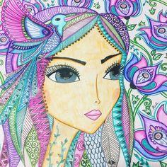 🌸 Hay tres lugares magicos donde el mundo duele menos... en la ducha.. en el sueño y en el abrazo. 💖💕.. terminando mi finde ... #colorterapia #romilerdart #findelargo #enjoy #pintar🌿 #art #colours #draw #cuadros Doodle Art Letters, Doodle Art Journals, Trippy Drawings, Easy Drawings, Painting For Kids, Diy Painting, Color Pencil Art, Arte Popular, Art Journal Inspiration