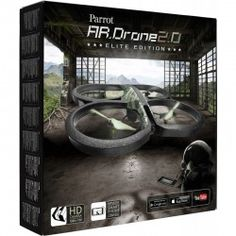 Parrot A.R Drone 2.0 Elite Edition Jungle  PAR0011ESM  AR.Drone 2.0 - Elite Edition Jungle  Quadricopter nowej generacji może być sterowany intuicyjnie za pomocą smartfona lub tableta. Przeżyj wyjątkowy i niespotykany lot! Odkryj świat widziany z góry, w HD i podziel się swoimi emocjami z całym światem przez Internet. Parrot AR.Drone 2.0 is the best deal you're going to find for a drone that comes with its own camera.