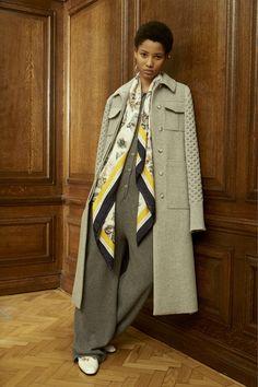 Grey Maxi Coat Grey Jumpsuit STELLA MCCARTNEY PRE-FALL 2016 Lineisy Montero