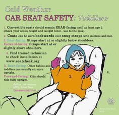 toddler winter car seat safety