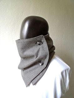 Men scarf. Men cowl, Extra Wide, Oxford Grey wool 100%. Trendy, modern, chunky and cozy. READY TO SHIP.. via Etsy.