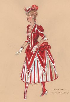 Costume renderings by Paul Tazewell for Show Boat