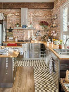 Decorar con acero inoxidable - 12 preciosa cocina donde inoxidable domina - Cómoda casa