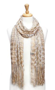 Charlie Scarf in Gold on Silver