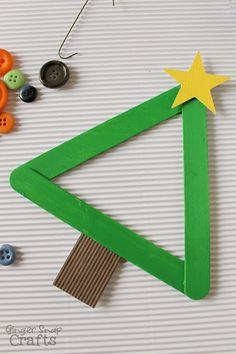 #DecoArt kids craft popsicle stick Christmas tree