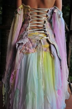 ~ Nuno Felted Magical Silk Leaf And Vine Elven Princess Goddess Queen Wedding Gown Dress Skirt OOAK ~ by Sarah-Maria Lackner of Pixie Girl Clothing (www.frixiegirl.etsy.com)