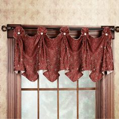 HomeTM Shari Lace Rod Pocket Tailored Valance
