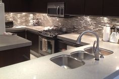 Glass Metal Tile Backsplash BACKSPLASH Collections by Keramin Tiles – http://www.keramin.ca | House Decoration Ideas