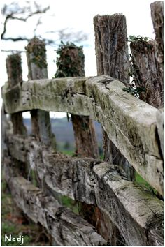 JUST PLAIN COUNTRY CHARM <3 An old wooden fence.