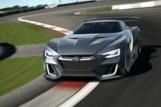 Subaru and Gran Turismo have officially unveiled the Viziv GT Vision Gran Turismo. Honda Ridgeline, Crossover Cars, Press Photo, Impreza, Fast Cars, Concept Cars, Subaru, Vintage Cars, Engineering