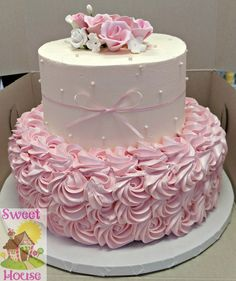 Shabby Chic Baby Shower Cake Shabby Chic-Babyparty-Kuchen Gerri's (Visited 4 times, 1 visits today) Torta Baby Shower, Tortas Baby Shower Niña, Girl Shower Cake, Baby Shower Cupcakes For Girls, Shower Baby, Formation Patisserie, Baby Girl Cakes, Cake Baby, Sweets