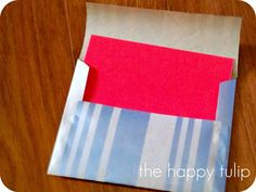 The Happy Tulip: Christmas Highlights and Handmade Envelope DIY