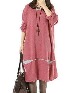 Love long knit sweater. Minibee Women's Loose Knit Sweater Long Sleeve Pullover Tops Pink M Minibee http://www.amazon.com/dp/B0147Y3CR2/ref=cm_sw_r_pi_dp_2CQQwb0DVWM5H