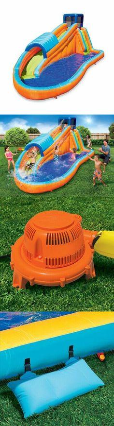 c112155d97e Water Slides 145992  Banzai 90330 Oversized Backyard Inflatable Surf Rider  Aqua Park With Blow Motor