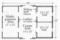StableWise Gallery - Two stall multi purpose barn layout