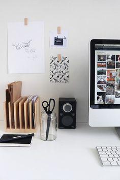 Lovely workspace - Pin birch by Nu interieur|ontwerp