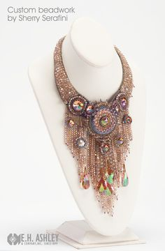 Custom design by Sherry Serafini featuring Swarovski Crystal and Purple Haze Custom Coating exclusively from E.H. Ashley