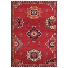 Style Haven Global Medallions Pink/Orange Area Rug (9'9 X 12'2) | Overstock.com Shopping - The Best Deals on 7x9 - 10x14 Rugs #BestAreaRugs