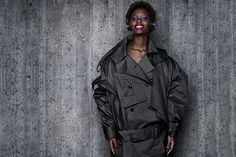 BeoPlay H8 Portraits by B&O PLAY - Anne Sofie Madsen has redesigned, detailed and oversized the classic trench coat, making the wearer both inviting and yet out of reach | B&O PLAY #BeoPlay #BeoPlayH8 #Headphones