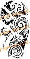 This tribal Polynesian mandala tattoo has two detailed circles with Maori koru curves on both sides. It's a symmetrical tribal tattoo, with an abstract sun. Maori Tattoos, Maori Tattoo Frau, Ta Moko Tattoo, Polynesian Tribal Tattoos, Filipino Tattoos, Norse Tattoo, Marquesan Tattoos, Polynesian Designs, Samoan Tattoo