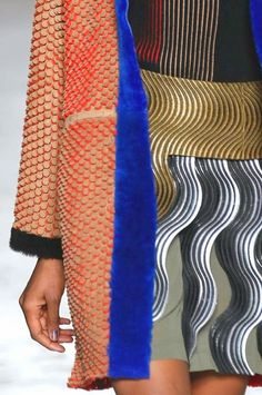 patternprints journal: PRINTS, PATTERNS, TRIMMINGS AND SURFACE EFFECTS FROM MILAN FASHION WEEK (A/W 14/15 WOMENSWEAR) / 9