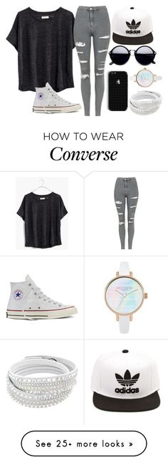 """ATTENTION ALL BULLIES/BULLIED"" by lauren2900 on Polyvore featuring Madewell, Topshop, Converse, adidas and Lauren2900"