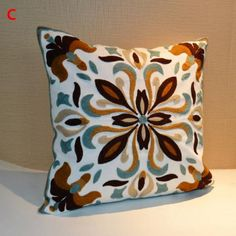 Chinese style flower decorative pillows embroidered for sofa
