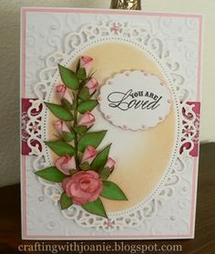 Crafting with Joanie: Rose Bud Card