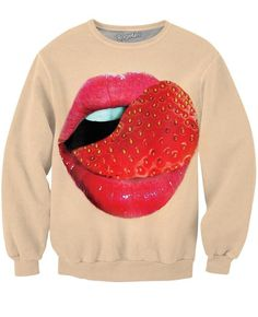 Strawberry Tongue Crewneck Sweatshirt