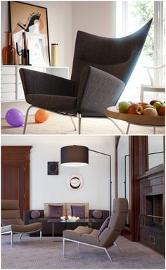Stylish contemporary lounge chairs for modern rooms #eggchair #livingroomchairs #livingroommodern