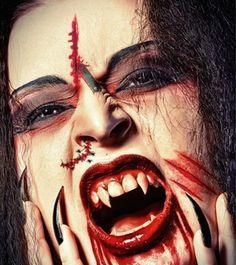 1pcs Halloween temporaire Big Boca Scary Terror Tattoo Sticker Body Maquillage imperméable à l'eau