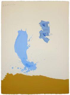 Robert Motherwell, In Blue Ochre with Gauloises, 1967, Hollis Taggart Galleries