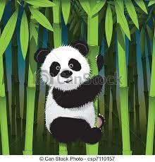 """dessin panda bambou"""
