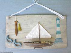 Seaside Art from a hidden treasure in the dresser / theboondocksblog.com