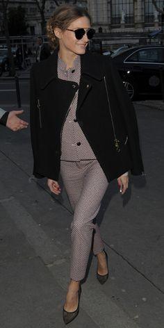 Olivia Palermo arrives at the Paul & Joe autumn/winter '14 show at Paris Fashion Week - 4 March 2014