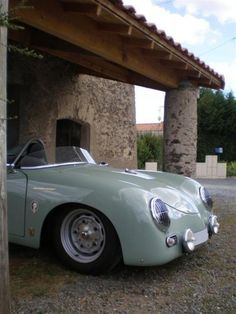sports car....vintage aqua....zoom, zoom