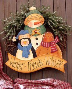 Christmas Yard Art, Christmas Craft Projects, Country Christmas, Christmas Signs, Christmas Decorations, Christmas Ornaments, Xmas, Pintura Country, Arte Country