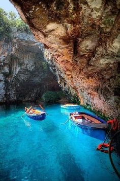 Melissani Cave, Kefalonia, Greece   See More Picz