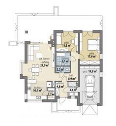 Lukrecja II - Dobre Domy Flak & Abramowicz Garden Design, House Design, Home Design Floor Plans, Bungalow, House Plans, How To Plan, Architecture, Billionaire, Country Houses