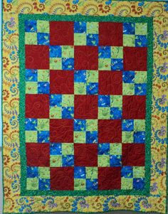 Baby Quilt Leaping Frogs by  $125